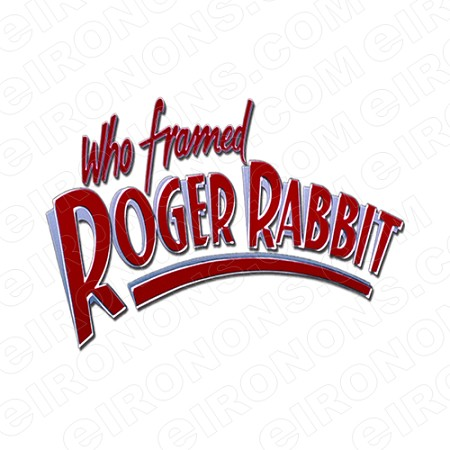 WHO FRAMED ROGER RABBIT LOGO MOVIE T-SHIRT IRON-ON TRANSFER DECAL ...