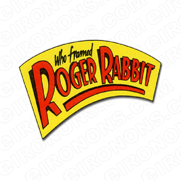 WHO FRAMED ROGER RABBIT LOGO YELLOW RED MOVIE T-SHIRT IRON-ON TRANSFER DECAL #MWFRR8