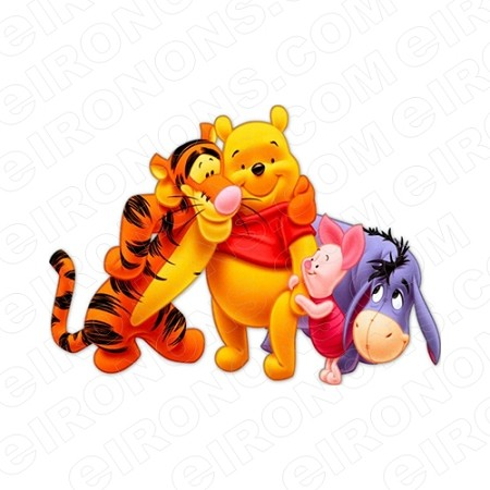 WINNIE THE POOH GROUP POSE CHARACTER T-SHIRT IRON-ON TRANSFER DECAL #CWTP3