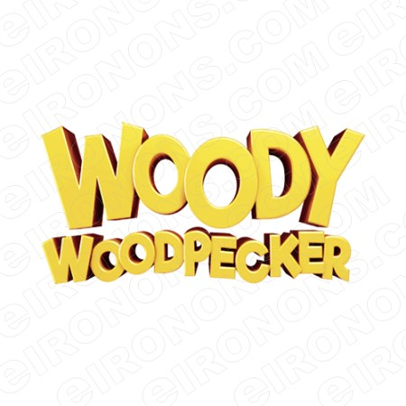 WOODY WOODPECKER LOGO CHARACTER T-SHIRT IRON-ON TRANSFER DECAL #CWWP3