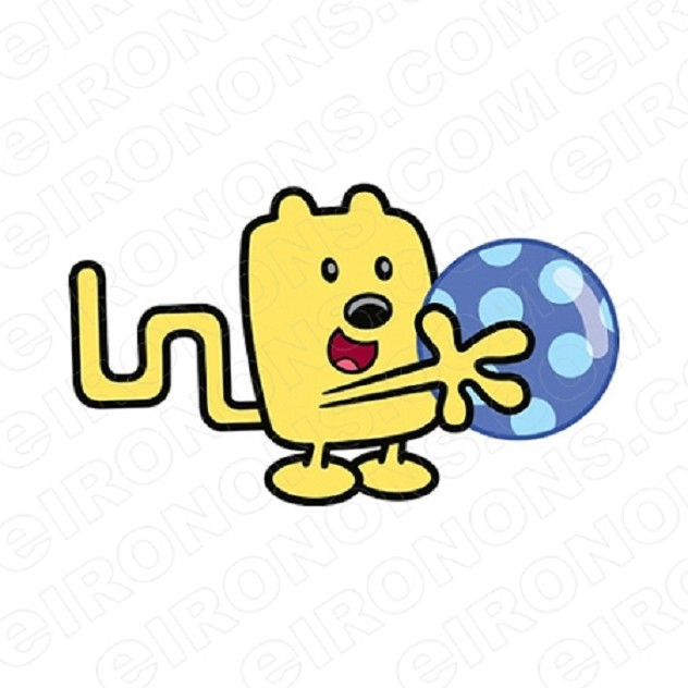 WOW WUBBZY HOLDING BALL CHARACTER T-SHIRT IRON-ON TRANSFER DECAL #CWW5