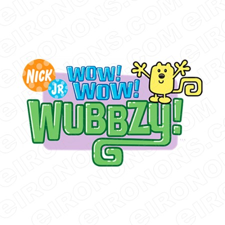 WOW WUBBZY LOGO CHARACTER T-SHIRT IRON-ON TRANSFER DECAL #CWW8