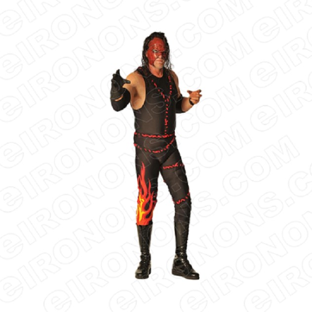 WWE KANE ARM OUT SPORTS WRESTLING T-SHIRT IRON-ON TRANSFER DECAL #SWWEK2