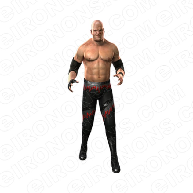 WWE KANE FRONT VIEW SPORTS WRESTLING T-SHIRT IRON-ON TRANSFER DECAL #SWWEK1
