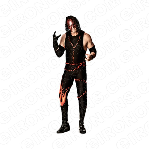 WWE KANE READY SPORTS WRESTLING T-SHIRT IRON-ON TRANSFER DECAL #SWWEK3