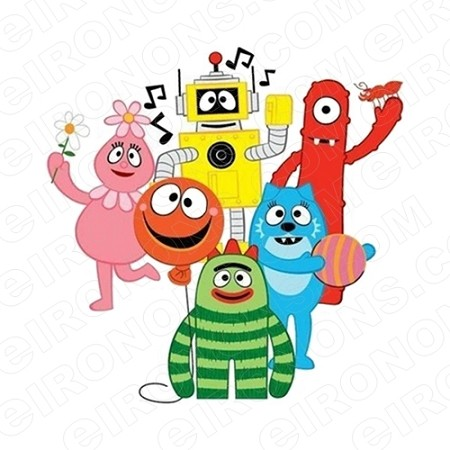 YO GABBA GABBA GROUP POSE 2 CHARACTER T-SHIRT IRON-ON TRANSFER DECAL #CYGG6