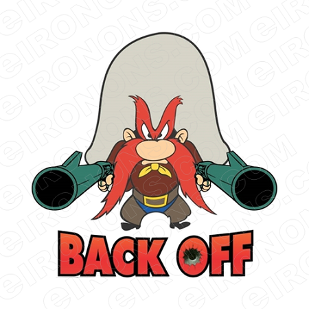 YOSEMITE SAM BACK OFF CHARACTER T-SHIRT IRON-ON TRANSFER DECAL #CYS1