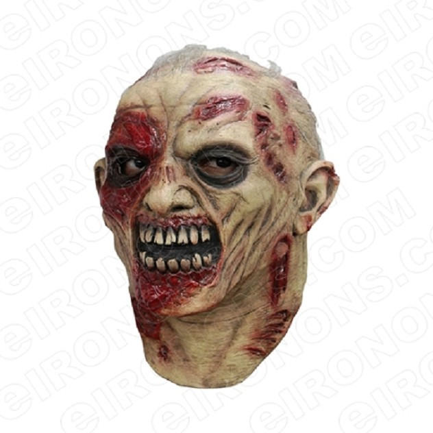 ZOMBIE SCARS BIG HEAD HALLOWEEN T-SHIRT IRON-ON TRANSFER DECAL #HZBH8